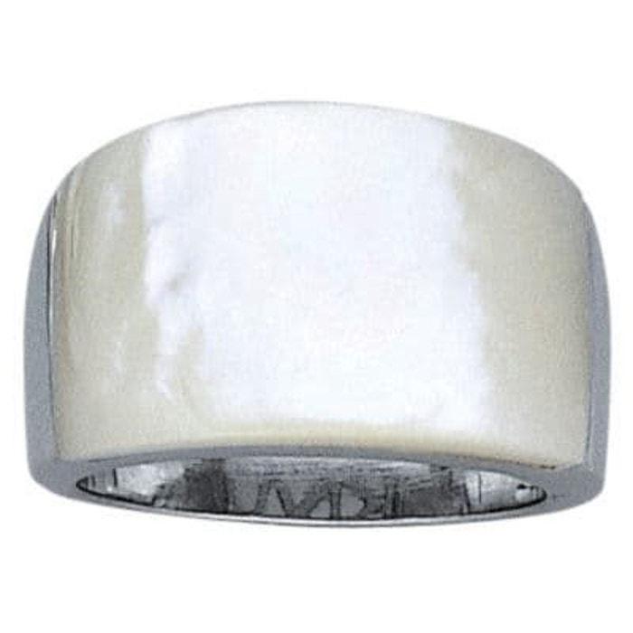 Bague anneau joaillerie nacre blanche 13 mm argent 925 couleur unique So Chic Bijoux   La Redoute Ordre De Vente WG0Y6