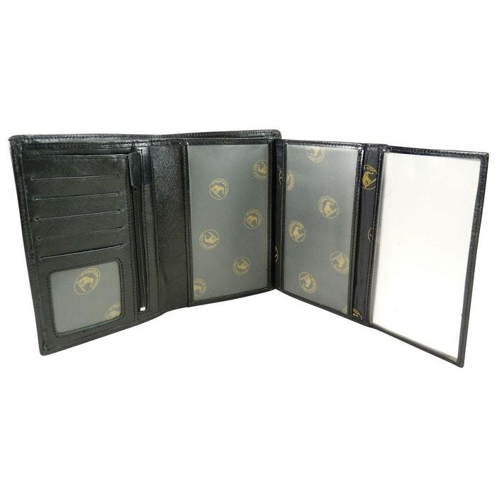 Grand portefeuille 4 volets en cuir de vachette Elephant D or   La ... 19085e0d8fa