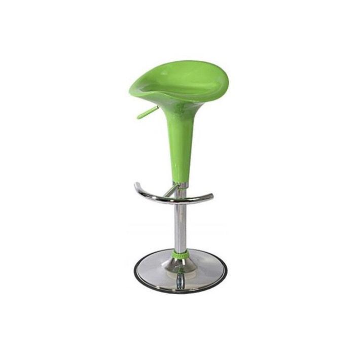 tabouret r haussable chrome vert vert declikdeco la redoute. Black Bedroom Furniture Sets. Home Design Ideas