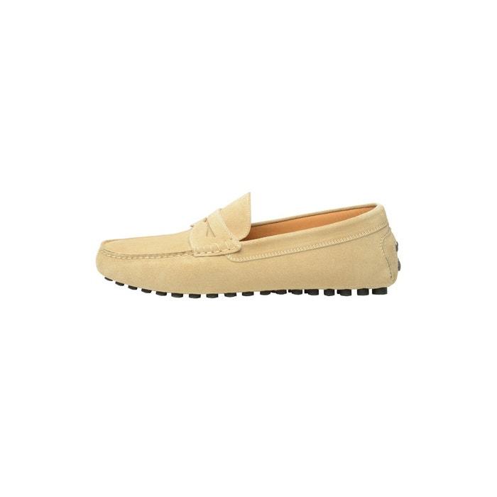Mocassins en cuir velours beige beige Shoepassion