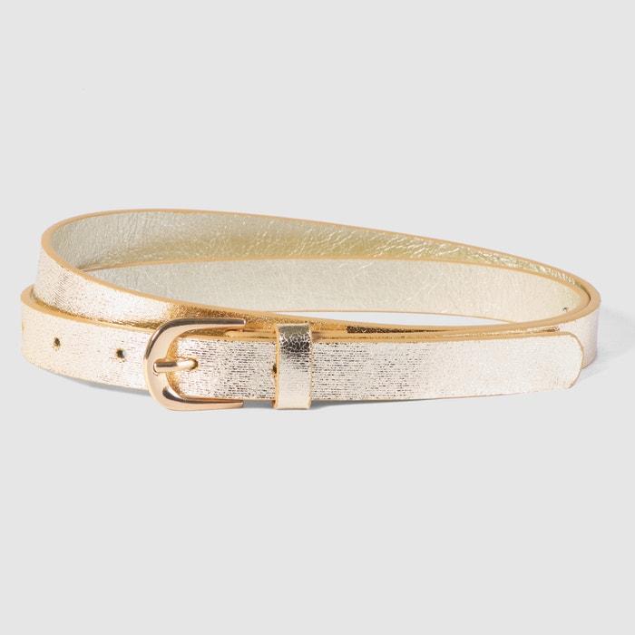 Image Gold-Coloured Snakeskin Belt MADEMOISELLE R