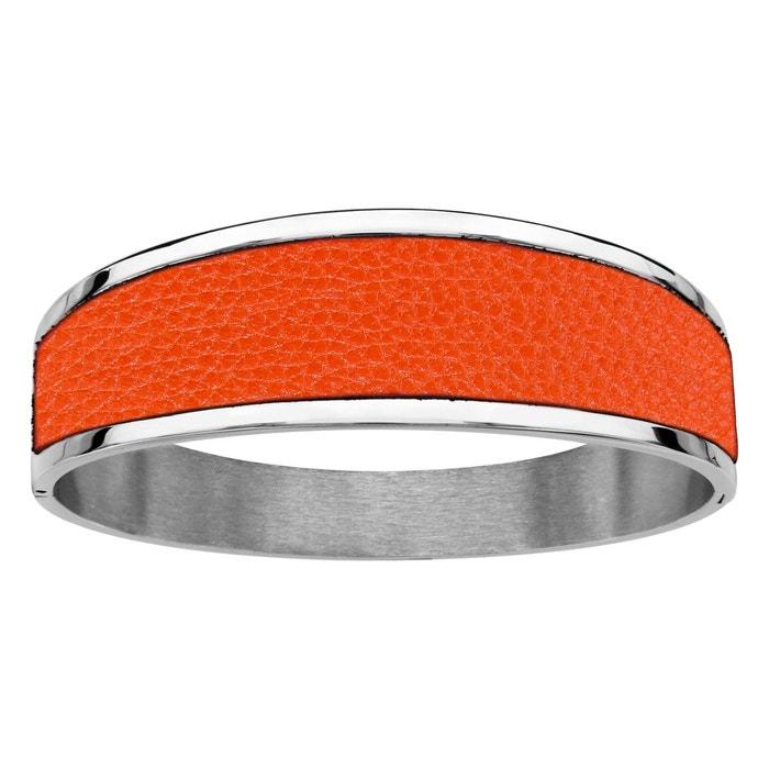 Bracelet cuir orange articulé acier inoxydable couleur unique So Chic Bijoux   La Redoute 2018 À Vendre Magasin Vente En Ligne Style De Mode Mastercard En Ligne T8lF82gJ