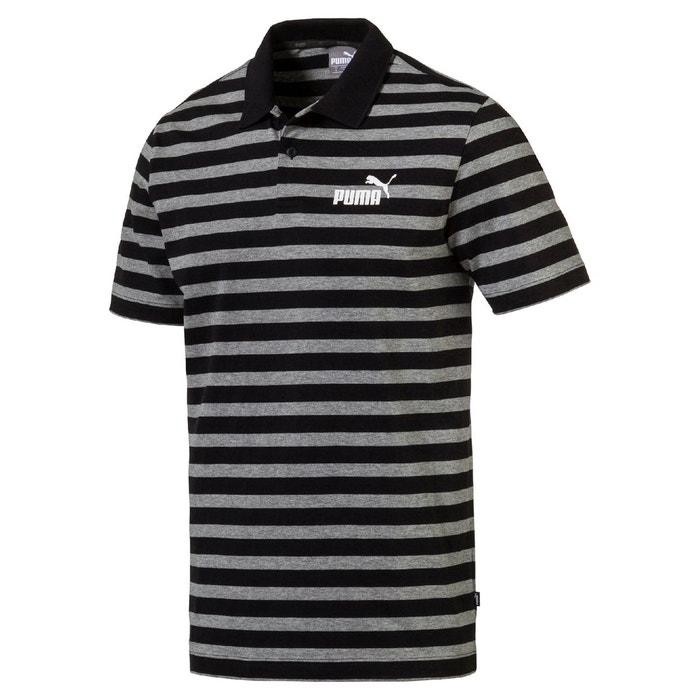 ea67865f5d Polo manches courtes à rayures rayé noir/gris Puma | La Redoute