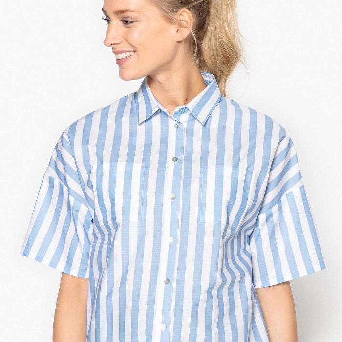 33290b51d Blusa de embarazo a rayas con pliegue detrás rayas azul blanco La Redoute  Maternité
