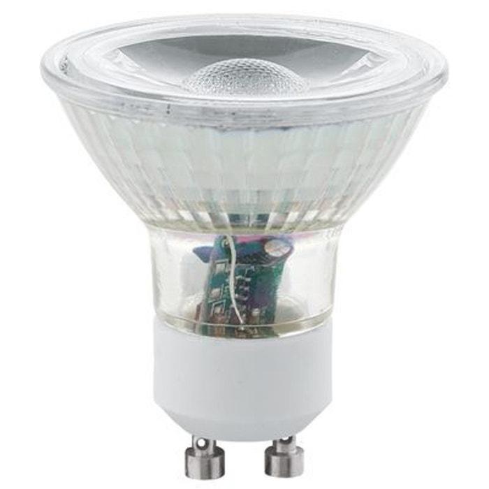 lot de 2 ampoules led gu10 5w cob 400 lumens 3000k blanc chaud eglo lighting 11511 blanc. Black Bedroom Furniture Sets. Home Design Ideas
