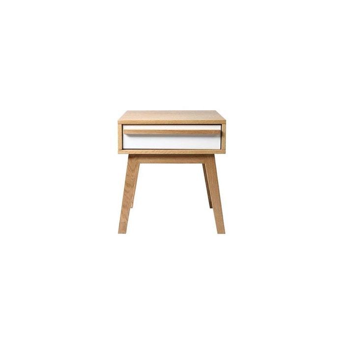 Table de chevet design scandinave helia blanc miliboo la - La redoute table de chevet ...