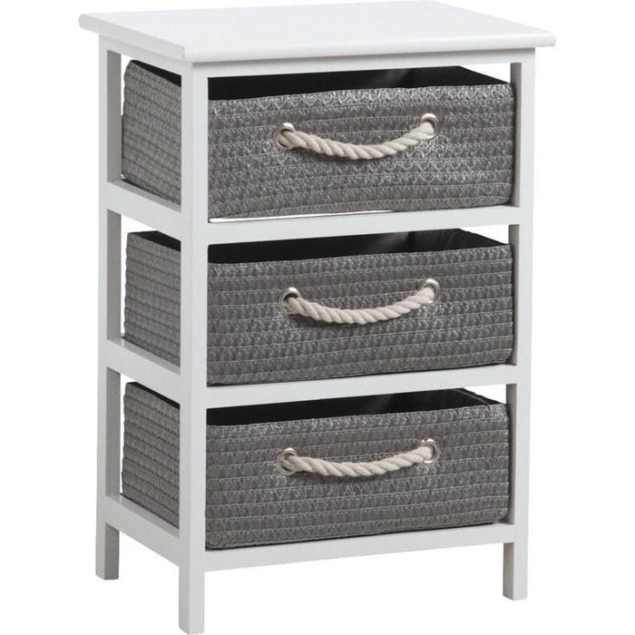 meuble 3 panier de rangement corneille gris aubry gaspard la redoute. Black Bedroom Furniture Sets. Home Design Ideas