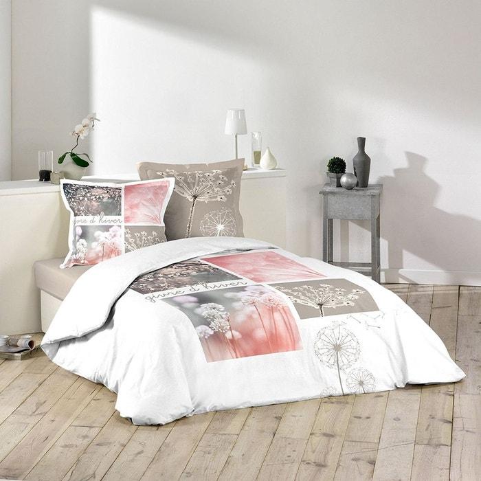 parure housse de couette 240 x 220 cm zen paradis givre d 39 hiver couleur unique douceur d. Black Bedroom Furniture Sets. Home Design Ideas