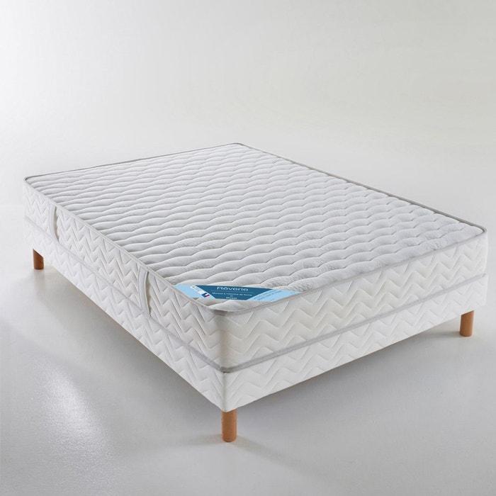 ensemble matelas mousse sommier blanc reverie la redoute. Black Bedroom Furniture Sets. Home Design Ideas