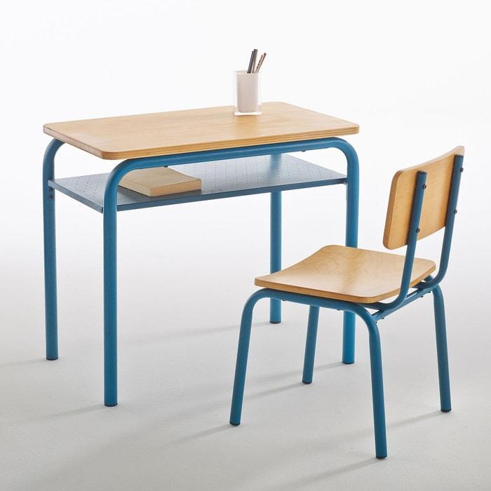 Bureau Et Chaise D'Écolier Vintage Buton Vert/Bois La Redoute