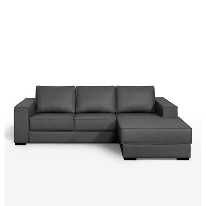 Hoekcanapé, vast model, uitstekend comfort, kussens in echt leer, Hope  La Redoute Interieurs image 0