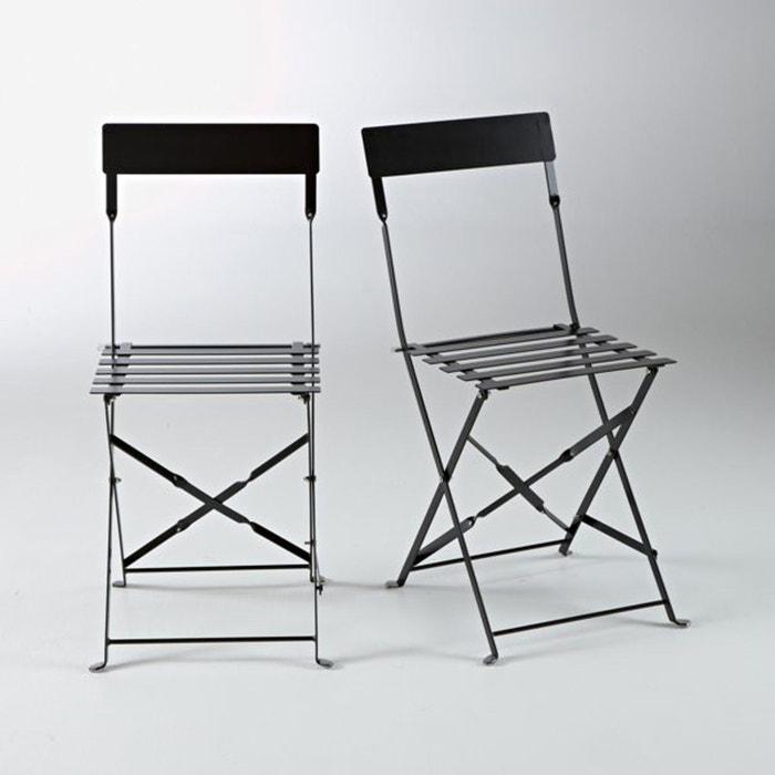 Chaise pliante métal, OZEVAN (lot de 2)  La Redoute Interieurs image 0