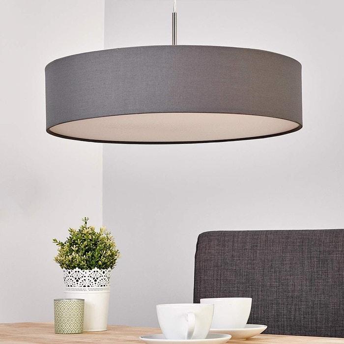 suspension en textile moderne led sebatin gris blanc nickel mat lampenwelt la redoute. Black Bedroom Furniture Sets. Home Design Ideas