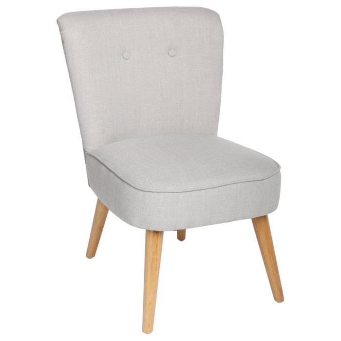 fauteuil esprit scandinave en tissu gris clair et pieds bois 51x58x76cm gris clair pier import. Black Bedroom Furniture Sets. Home Design Ideas