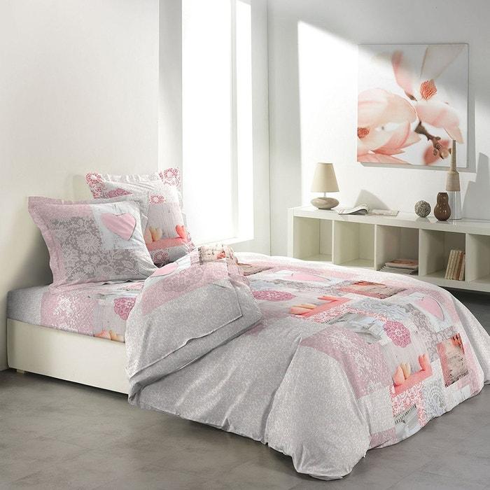 parure de draps l 39 eau de rose multicolor home maison la redoute. Black Bedroom Furniture Sets. Home Design Ideas