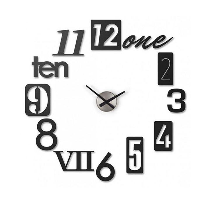 Horloge Murale Design Numbra Umbra Noir Umbra La Redoute