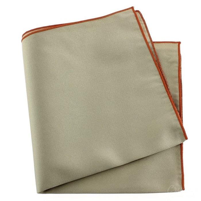 Pochette soie, lino, ourlet orange marron Tony Et Paul | La Redoute