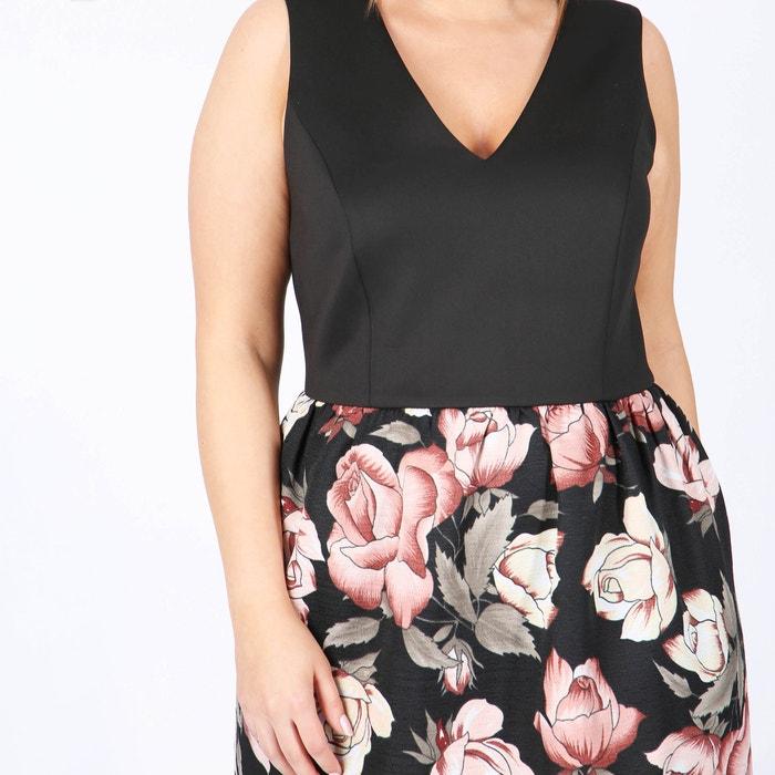 flores sin dos mangas tejidos con Vestido de LOVEDROBE estampado gwfaxx
