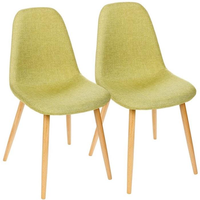 Lot de 2 chaises h tre esprit scandinave anis anis pier import la redoute - Chaise scandinave la redoute ...