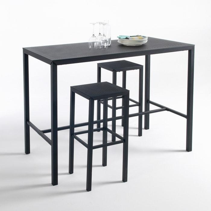 Choe Outdoor Metal High Bar Table Seats 4 6 Matt Black La Redoute Interieurs