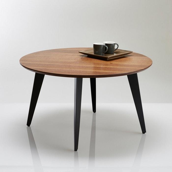 Table basse ronde vintage watford noyer la redoute for La redoute table basse