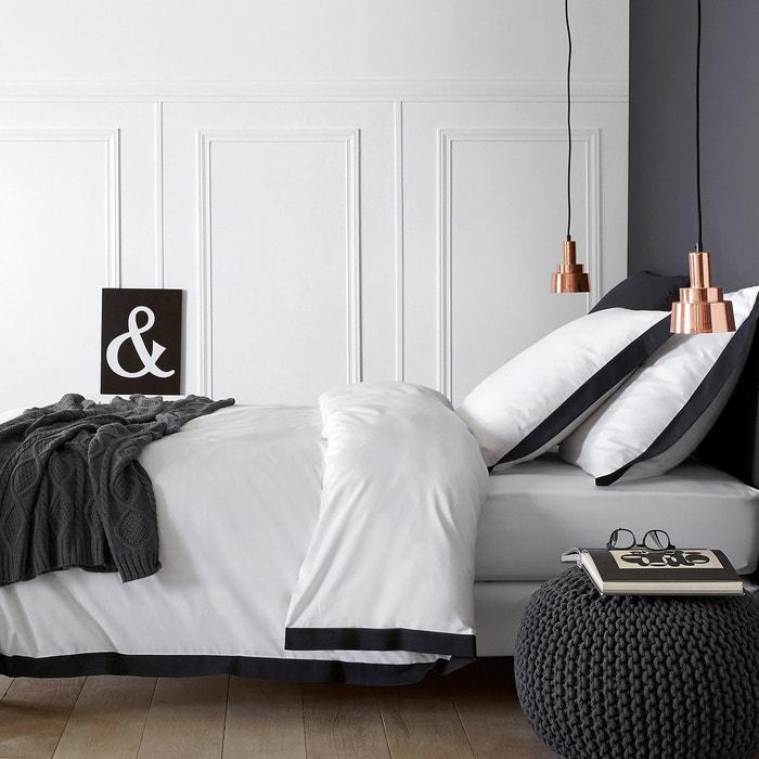 Bettbezug Épure, weiss/schwarz  La Redoute Interieurs image 0