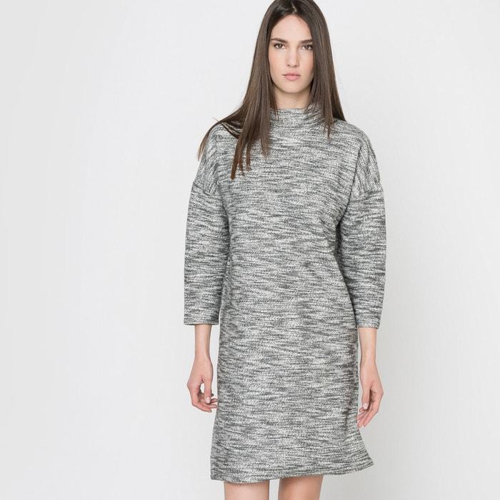 afbeelding Trui-jurk met 3/4 mouwen in mêleetricot La Redoute Collections