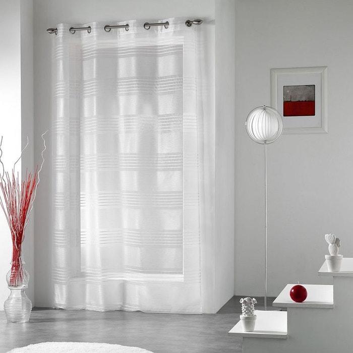 voilage fines rayures jacquard home maison la redoute. Black Bedroom Furniture Sets. Home Design Ideas