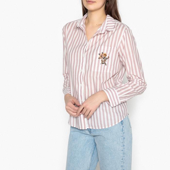 Joris Long-Sleeved Striped Shirt  SAMSOE AND SAMSOE image 0