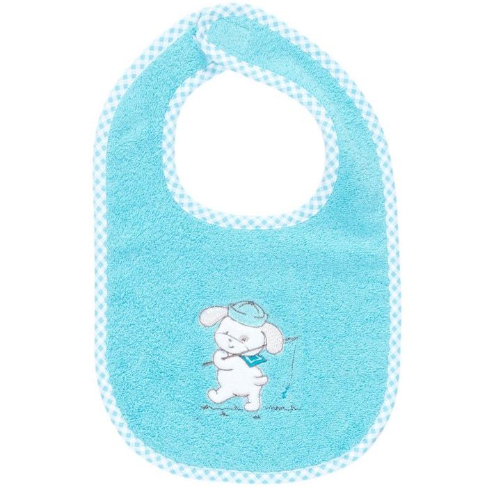 Bavoir b b scratch brod teddy fish petit mod le bleu for La maison du bebe