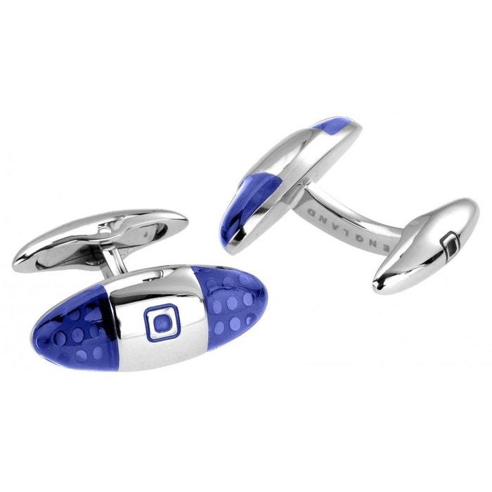 Bouton de manchette baguette blue, polished steel bleu Sonia Spencer | La Redoute