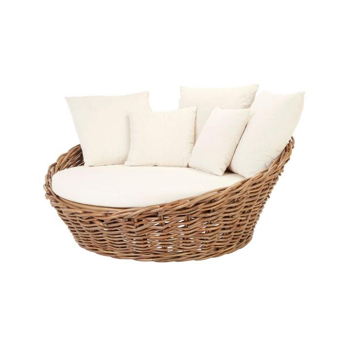 Canapé rond CALCUTA en rotin