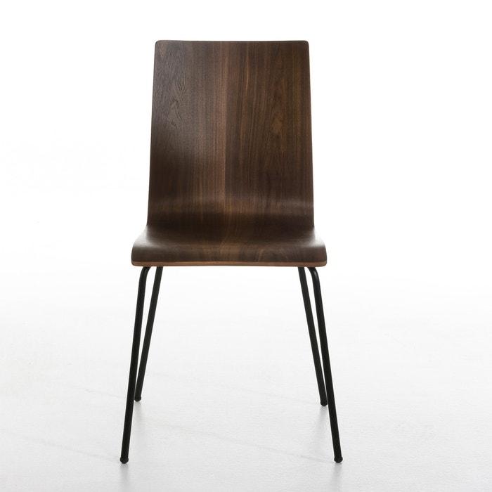 chaise bimat lot de 2 am pm noyer la redoute. Black Bedroom Furniture Sets. Home Design Ideas
