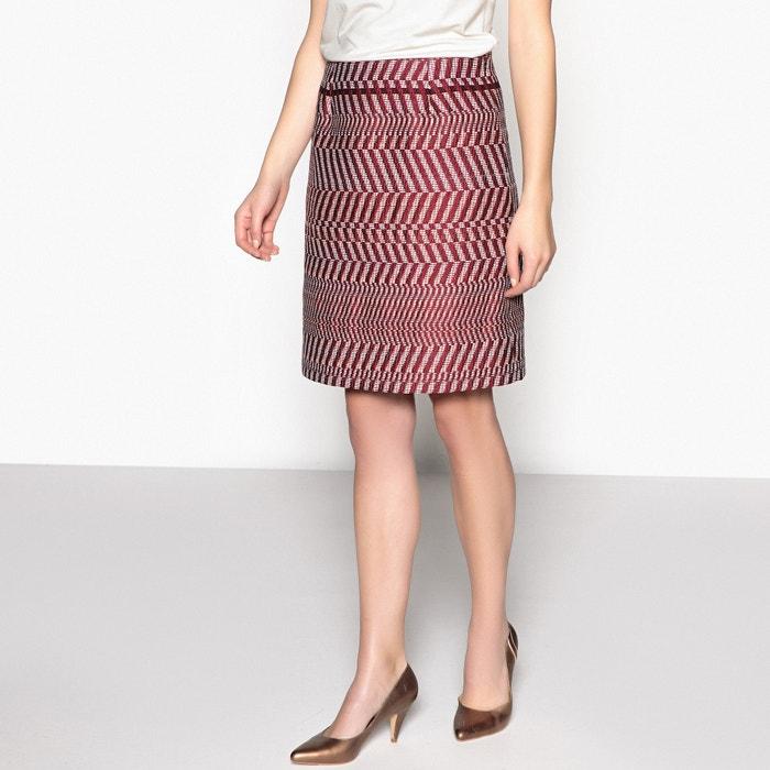 Jacquard A-Line Skirt  ANNE WEYBURN image 0