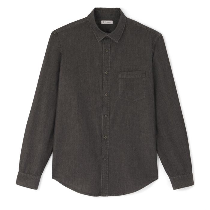 Regular Cotton Denim Shirt  La Redoute Collections image 0