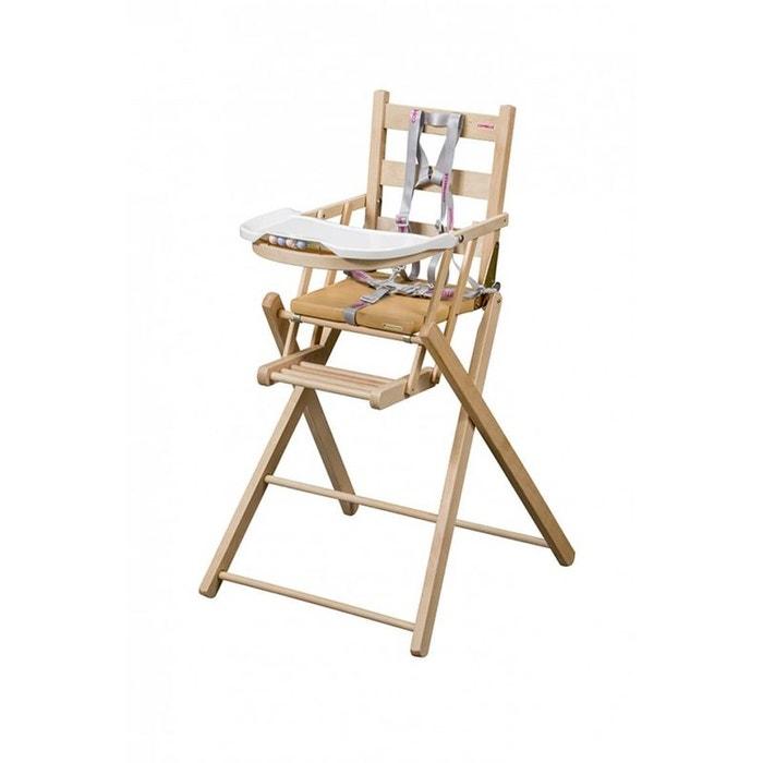 chaise haute sarah pliante naturel combelle combelle la redoute. Black Bedroom Furniture Sets. Home Design Ideas