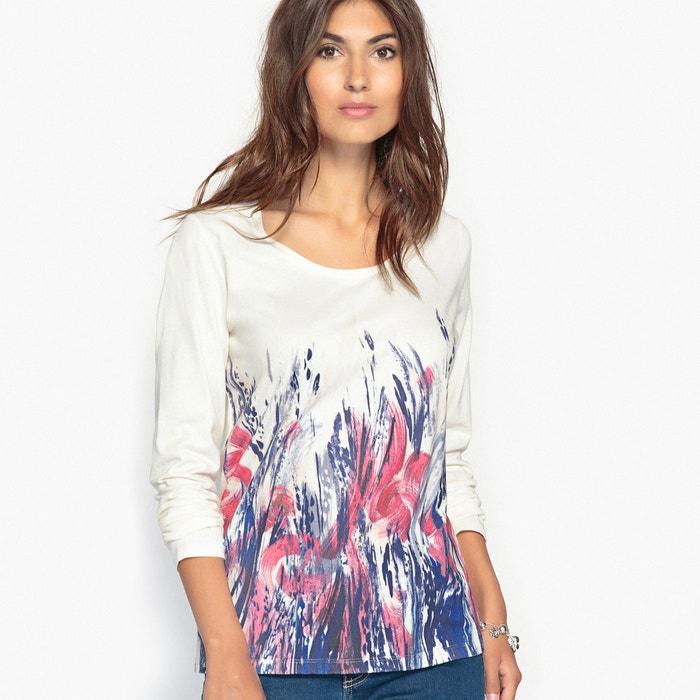 afbeelding T-shirt met geplaatst motief, gekamd zuiver katoen ANNE WEYBURN