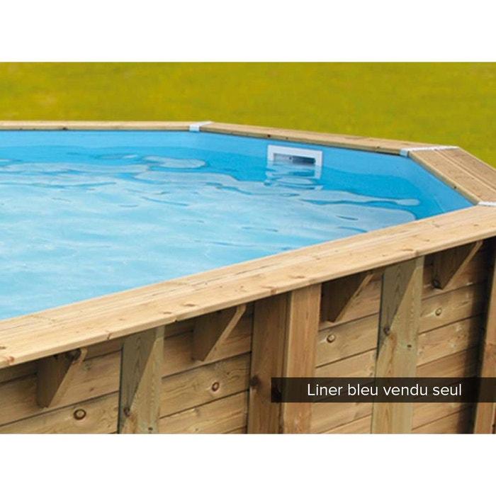 Liner seul pour piscine bois lin a 11 00 x 5 00 x 1 40 m bleu couleur unique ubbink la redoute for Piscine la redoute