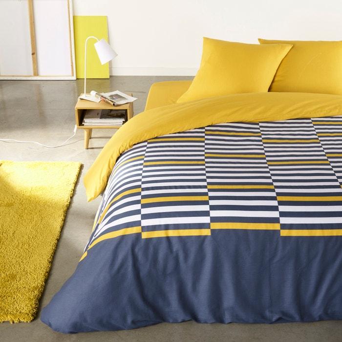 afbeelding Bedset in zuiver katoen, Irregular Stripes La Redoute Interieurs