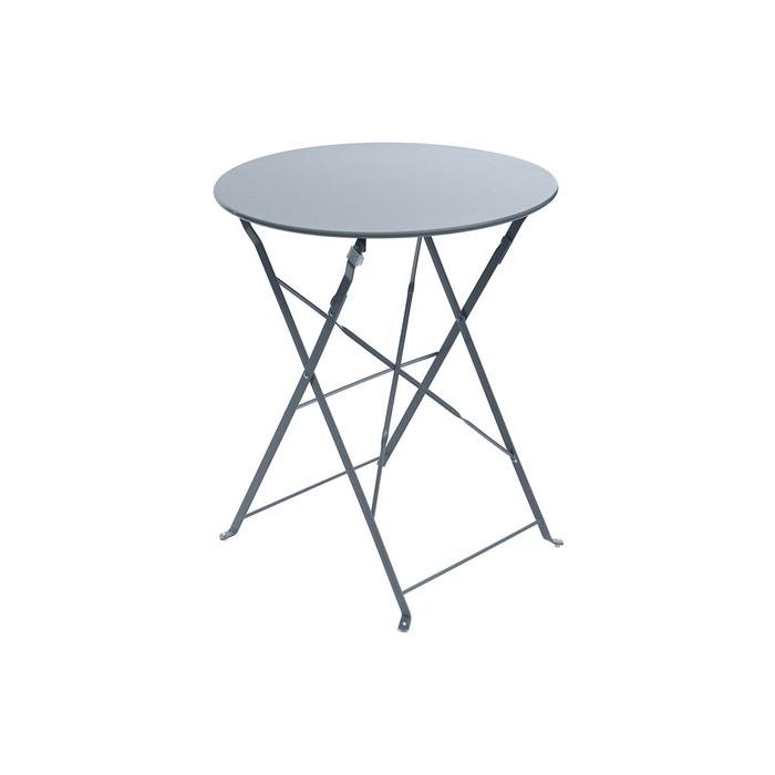Table de jardin ronde camargue ø 60 cm ardoise mat - hespéride ...