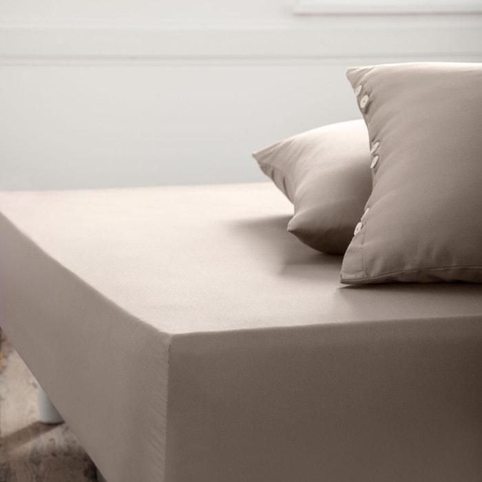 drap housse satin de coton la redoute interieurs la redoute. Black Bedroom Furniture Sets. Home Design Ideas