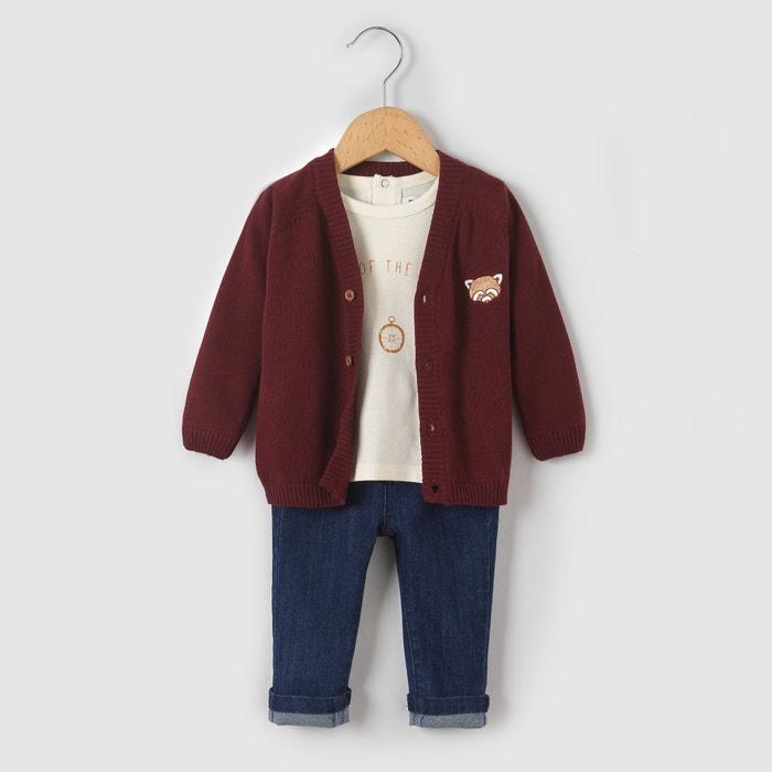фото Комплект: футболка, кардиган и джинсы 1 мес-3 лет R mini