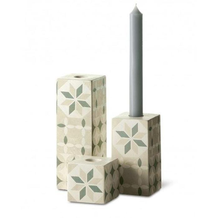 Set de 3 bougeoirs ciment  BOUGIES LA FRANÇAISE  image 0