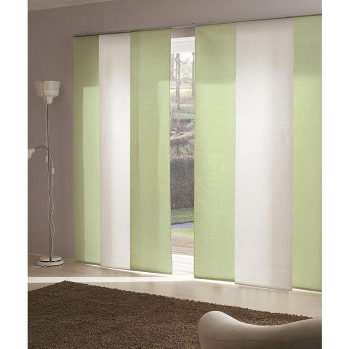 panneau japonais voile de lin vert foug re madeco la redoute. Black Bedroom Furniture Sets. Home Design Ideas