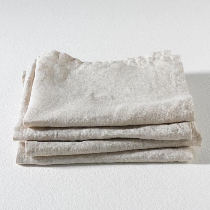 afbeelding Tafelservetten in zuiver linnen Linette (set van 4) AM.PM.