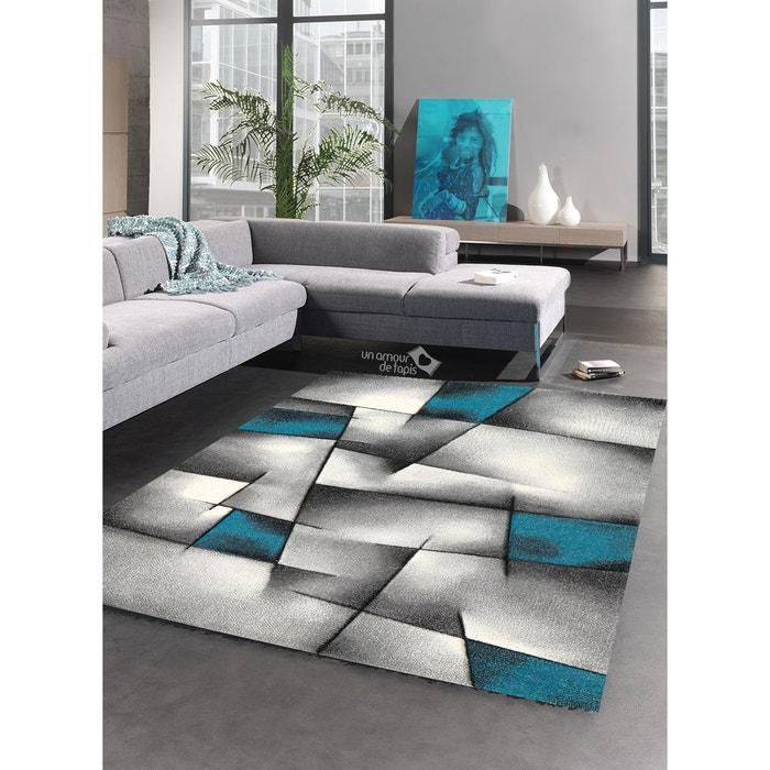 Tapis salon design brillance ultimate tapis moderne par - Salon marron et bleu turquoise ...