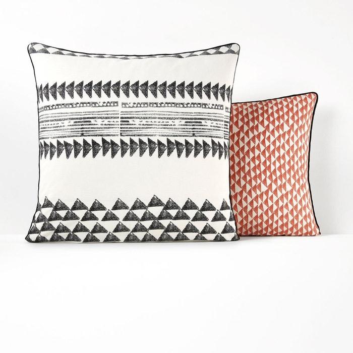 taie d 39 oreiller pur coton tiebele imprim la redoute. Black Bedroom Furniture Sets. Home Design Ideas