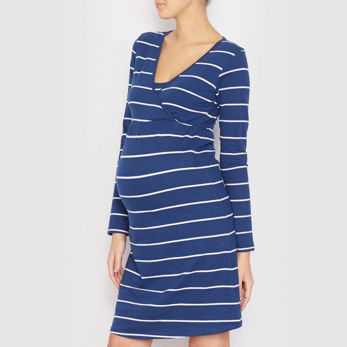 chemise de nuit grossesse et allaitement bleu ray cocoon la redoute. Black Bedroom Furniture Sets. Home Design Ideas