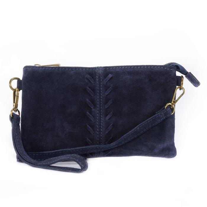 e7fe622703 Sac à main pochette en cuir nubuck / daim ute Oh My Bag   La Redoute