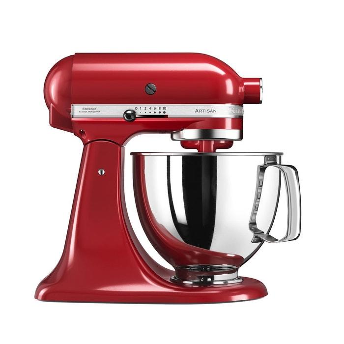 Robot p tissier artisan 5ksm125eer rouge kitchenaid la - Robot qui fait la cuisine ...